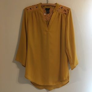 Yellow Rue21 Blouse